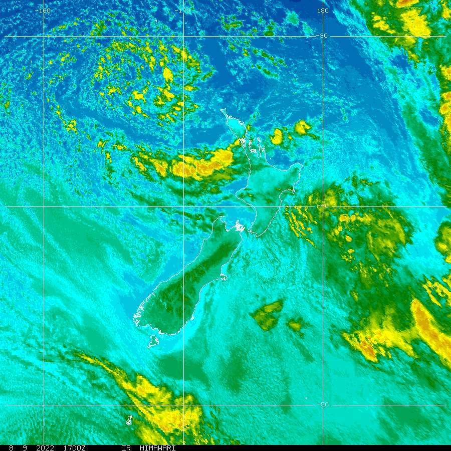 New Zealand Infrared Satellite